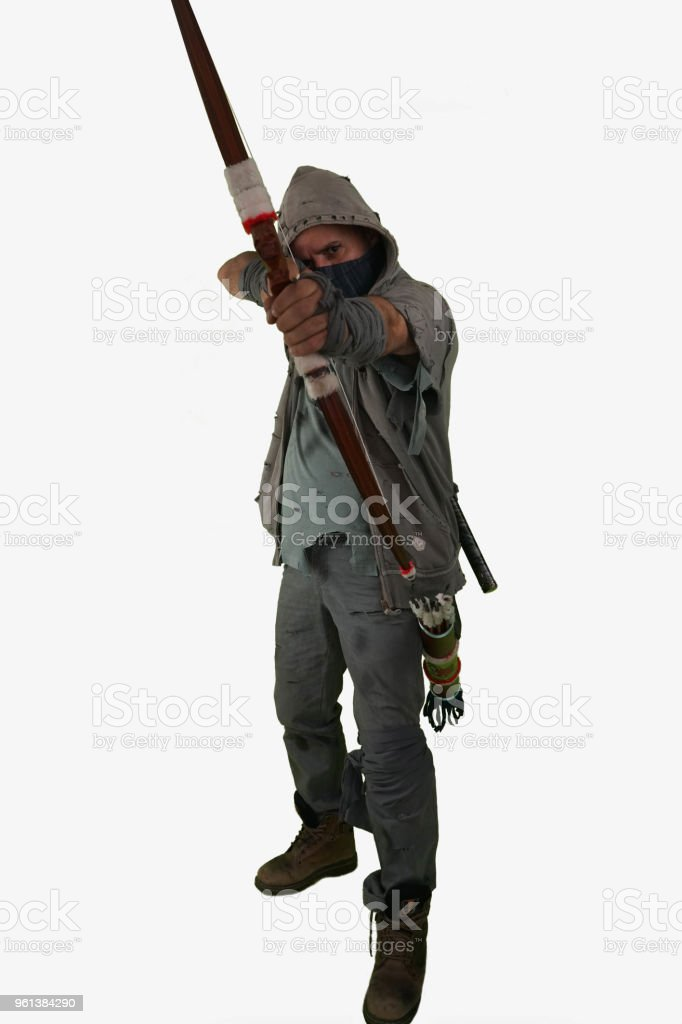Nuclear Post Apocalypse Survivors Concept With White