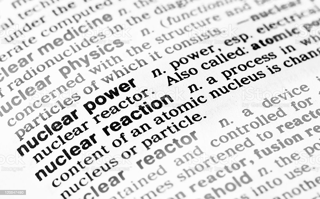 nuclear power definition royalty-free stock photo