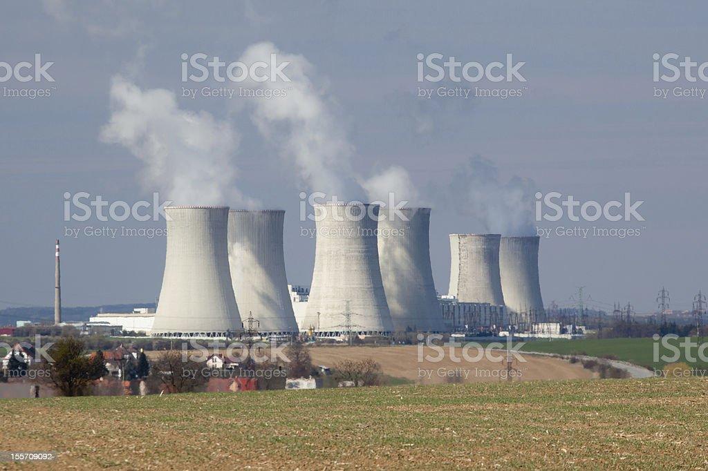 Nuclear power Dukovany royalty-free stock photo