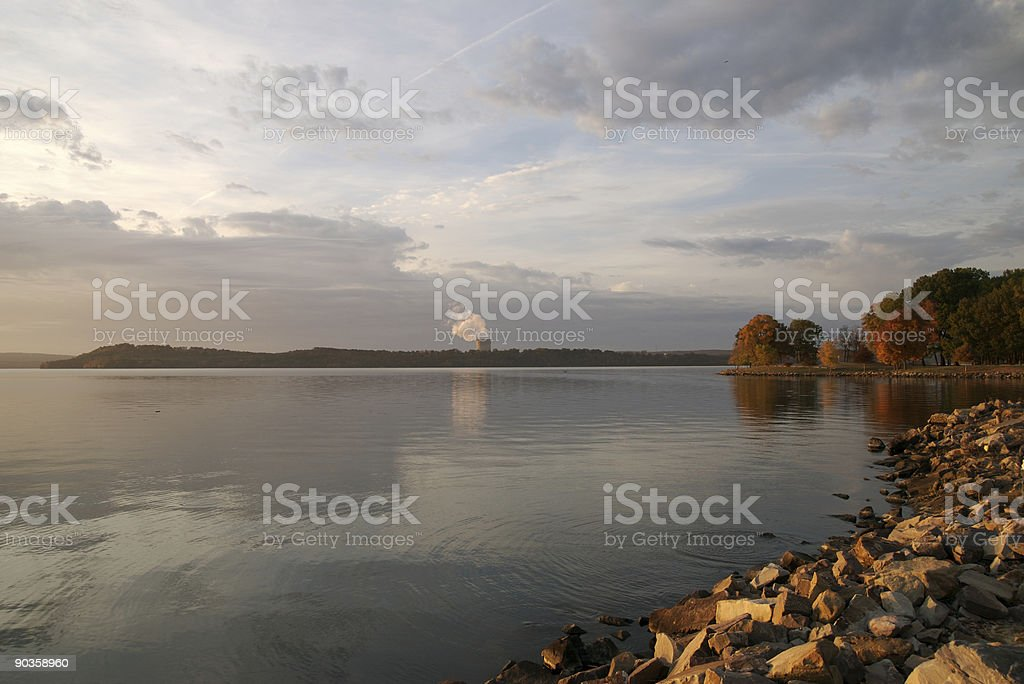 Nuclear Power on the Lake royalty-free stock photo