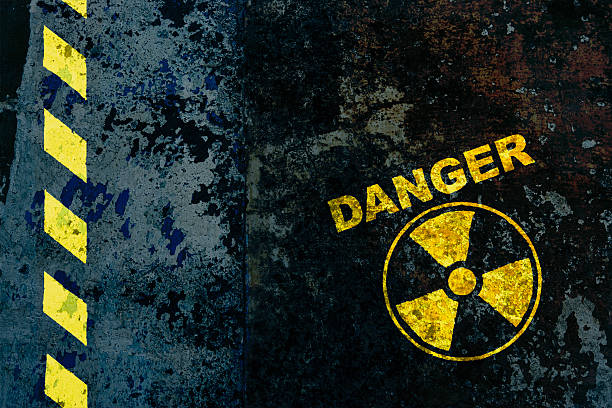 Nuclear power Warning sign : nuclear danger nuclear power station stock pictures, royalty-free photos & images