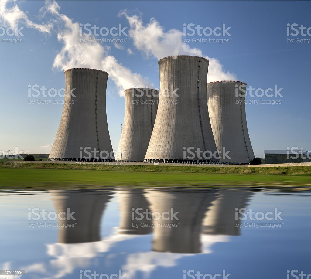 Nuclear power plant Dukovany in Czech Republic stock photo