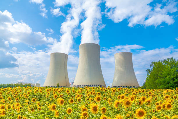 Nuclear power plant in Czech Republic Europe stock photo