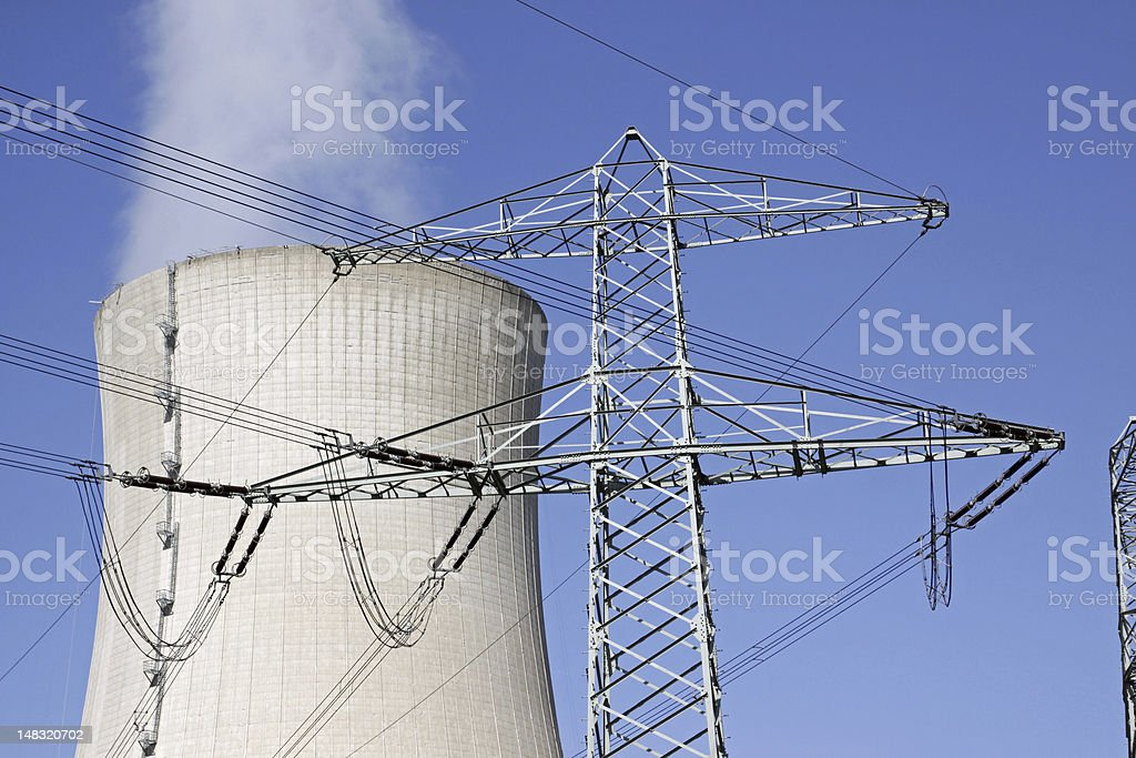 Nuclear power plant in Grohnde (Germany) stock photo