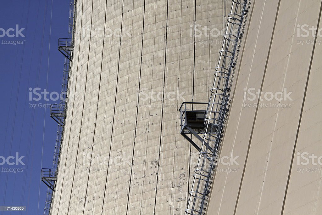Nuclear power plant in Grohnde (Lower Saxony, Germany) stock photo