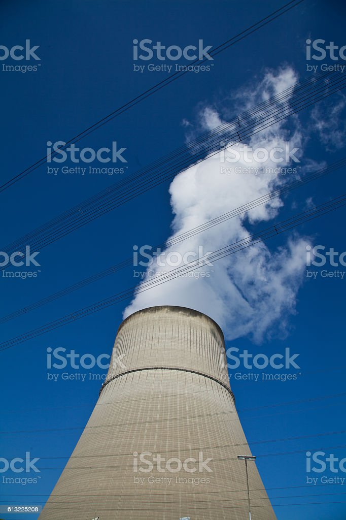 nuclear power plant Lingen stock photo
