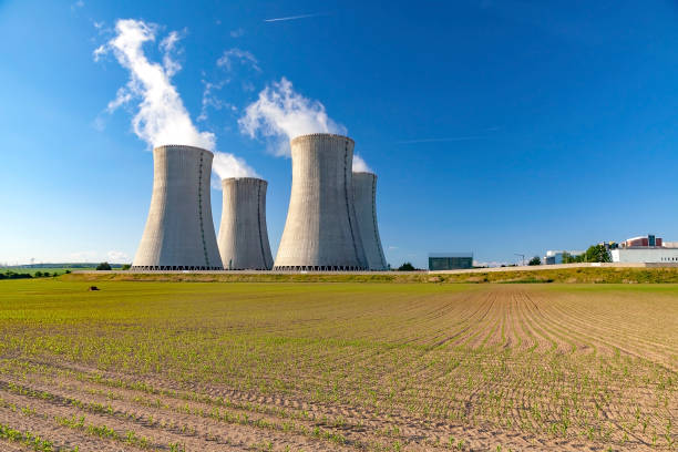Nuclear power plant Nuclear power plant Dukovany in Czech Republic Europe nuclear power station stock pictures, royalty-free photos & images