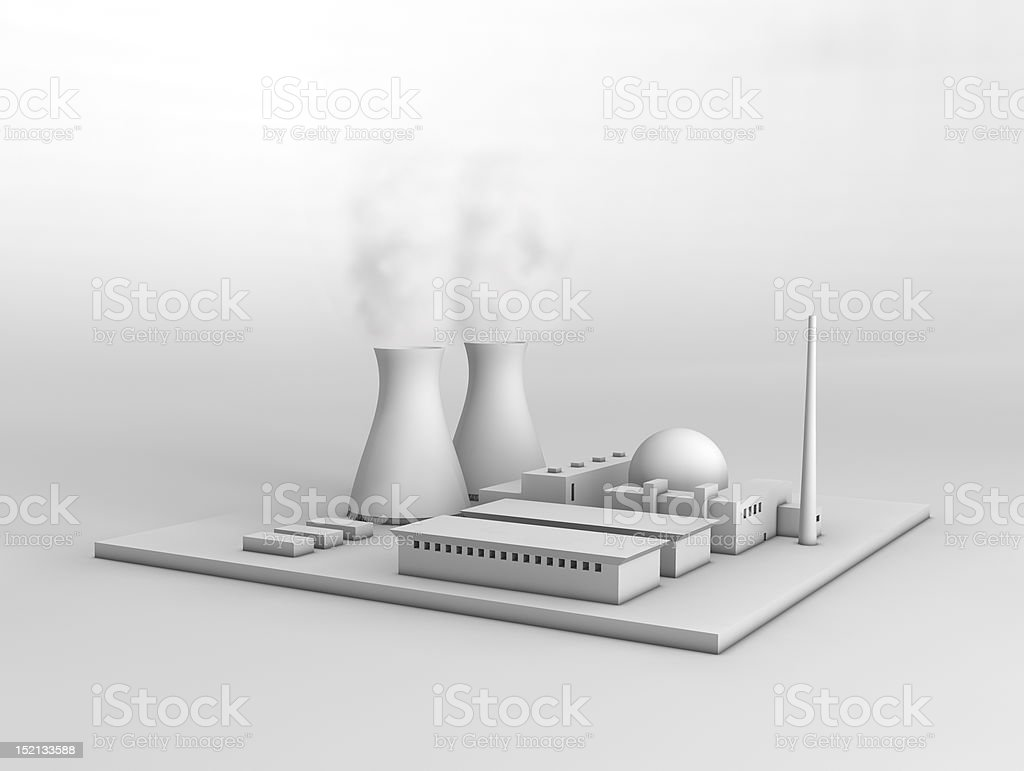 Nuclear power plant royalty-free stock photo