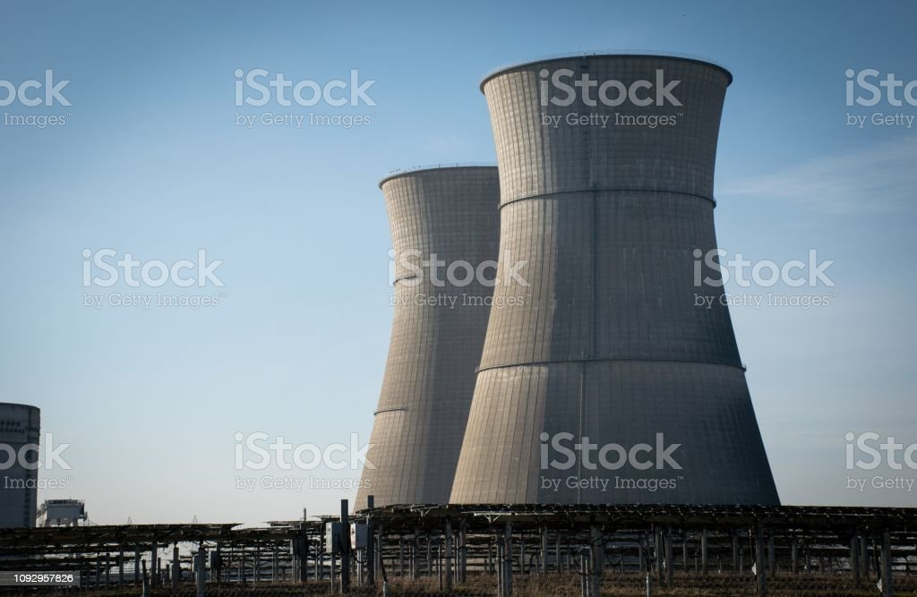 Nuclear Power Plant - Rancho Seco Former Rancho Seco nuclear plant in California, USA California Stock Photo
