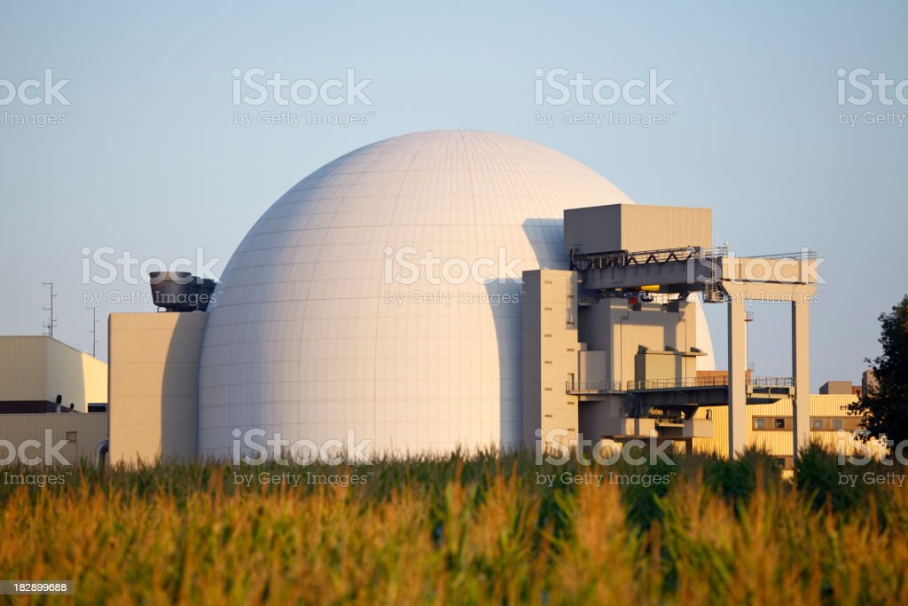 Nuclear Power Plant Reactor Building royalty-free stock photo