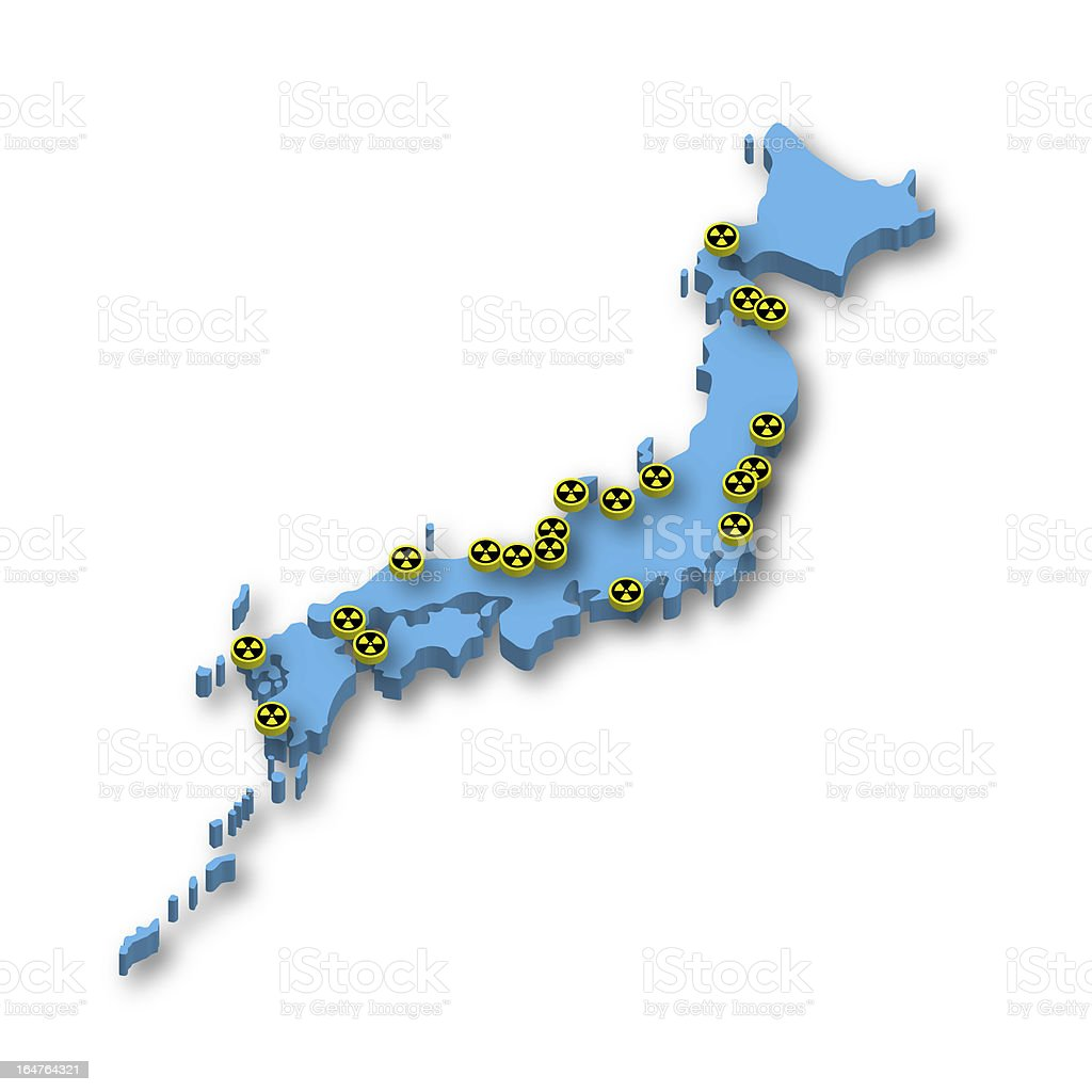 Nuclear Power Plants in Japan royalty-free stock photo
