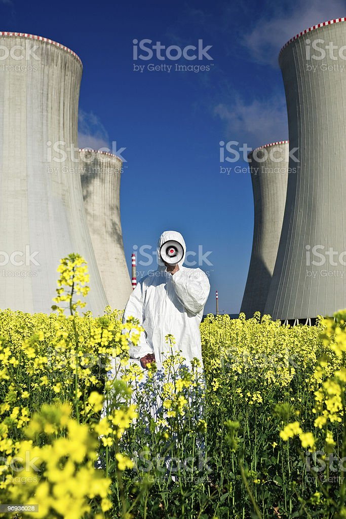 Nuclear Power Protest royalty-free stock photo