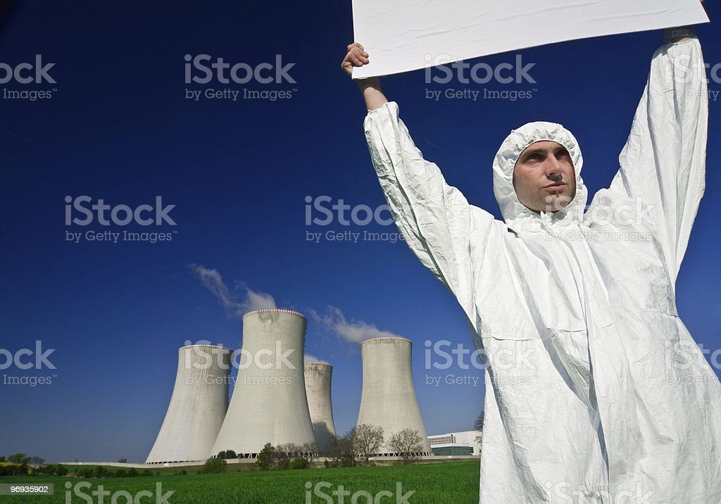 Nuclear Power Protestor royalty-free stock photo