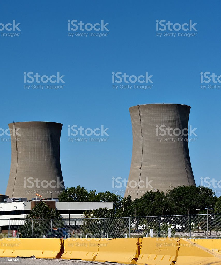 Nuclear Power Stacks royalty-free stock photo