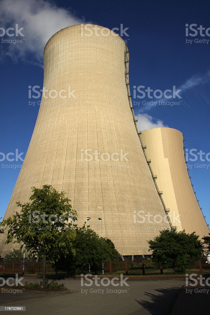Nuclear power station Grohnde stock photo