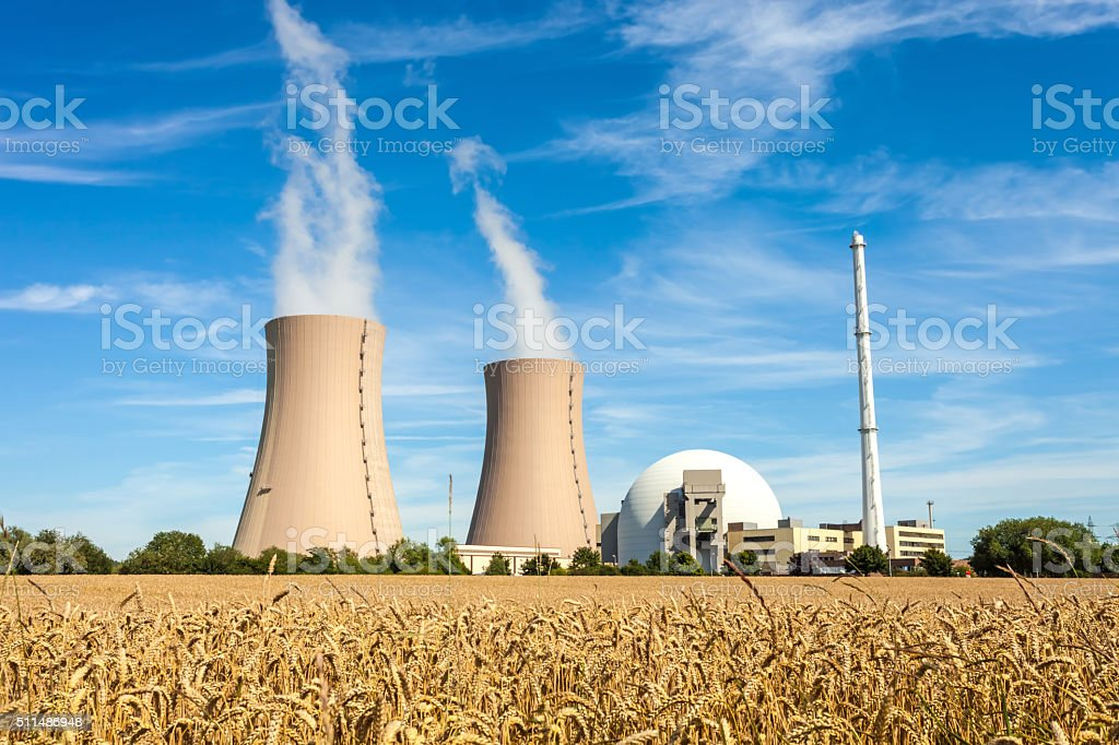 Nuclear Power Station in Germany stock photo