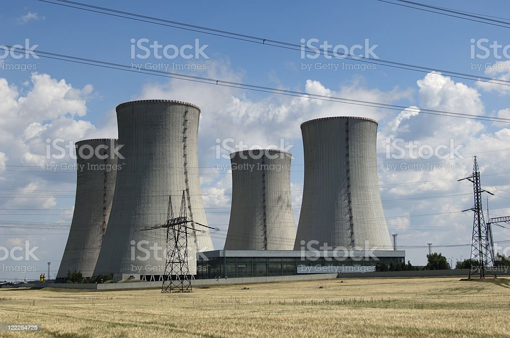 Nuclear power station on a sunny day royalty-free stock photo