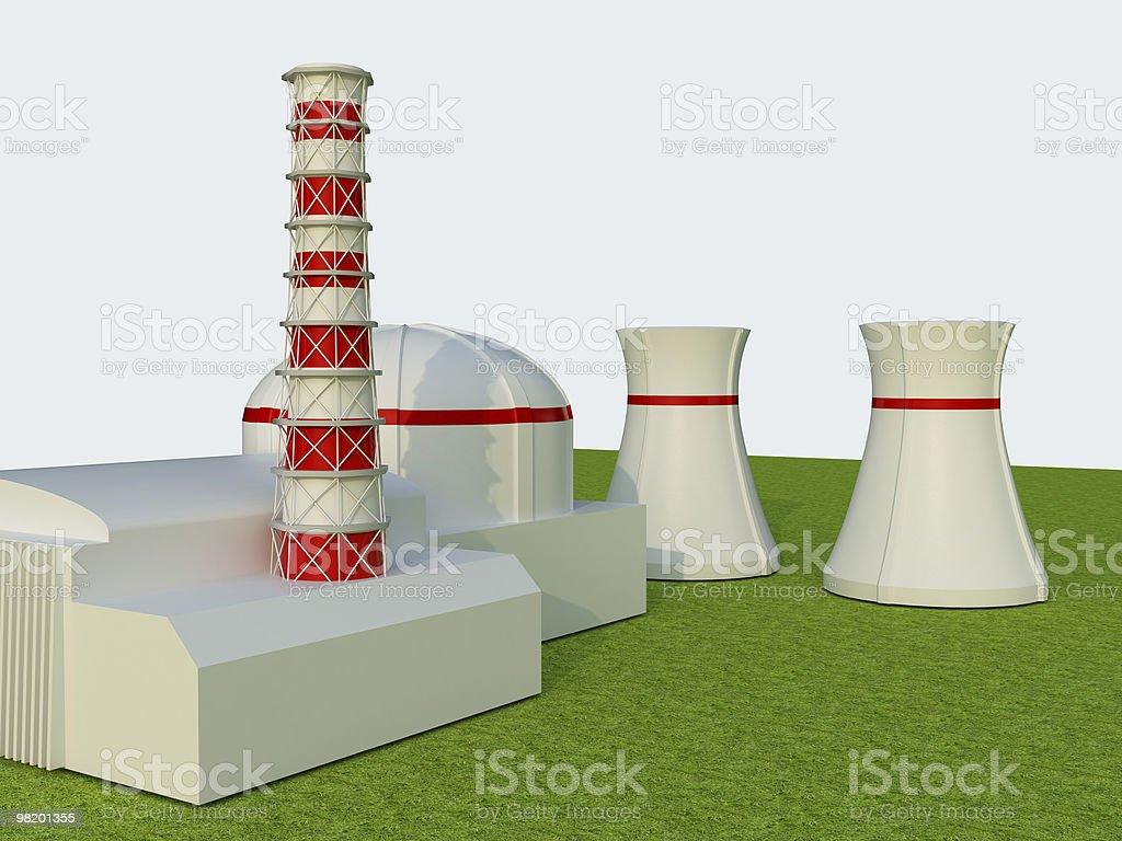 원자력 발전소 royalty-free 스톡 사진
