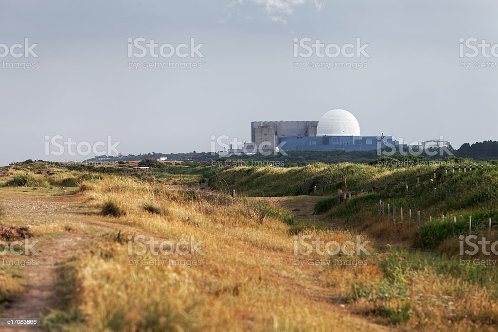 Nuclear power stations stock photo