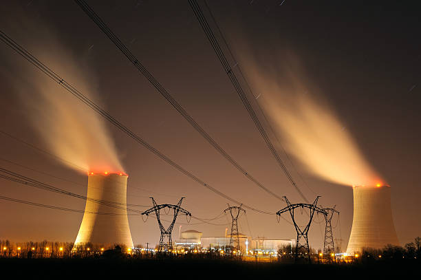nuclear power two stock photo