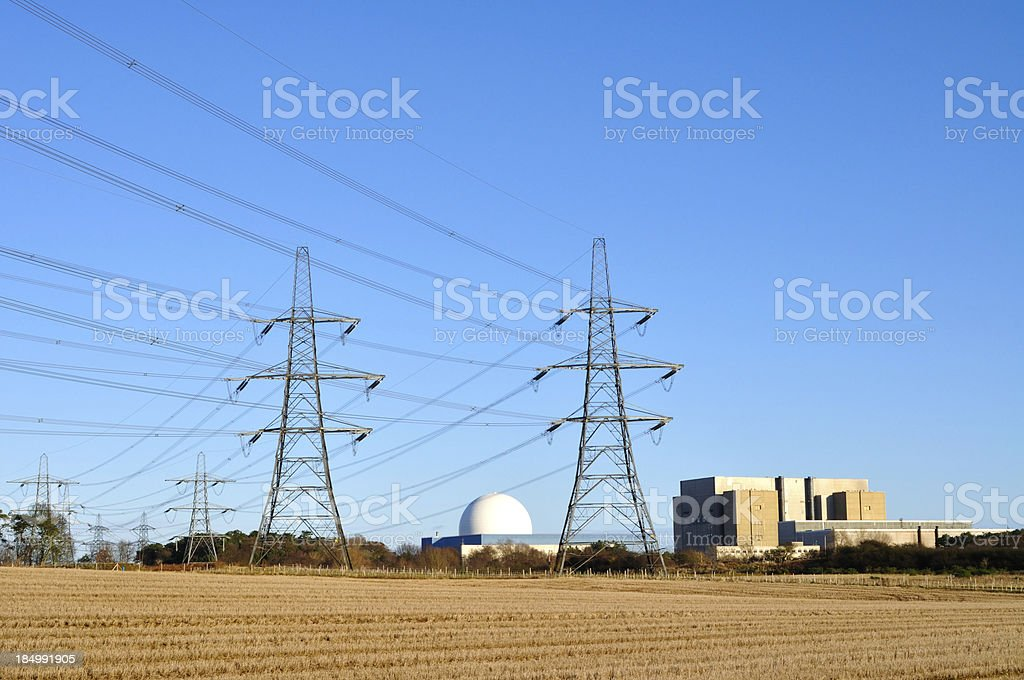 Nuclear pylons royalty-free stock photo