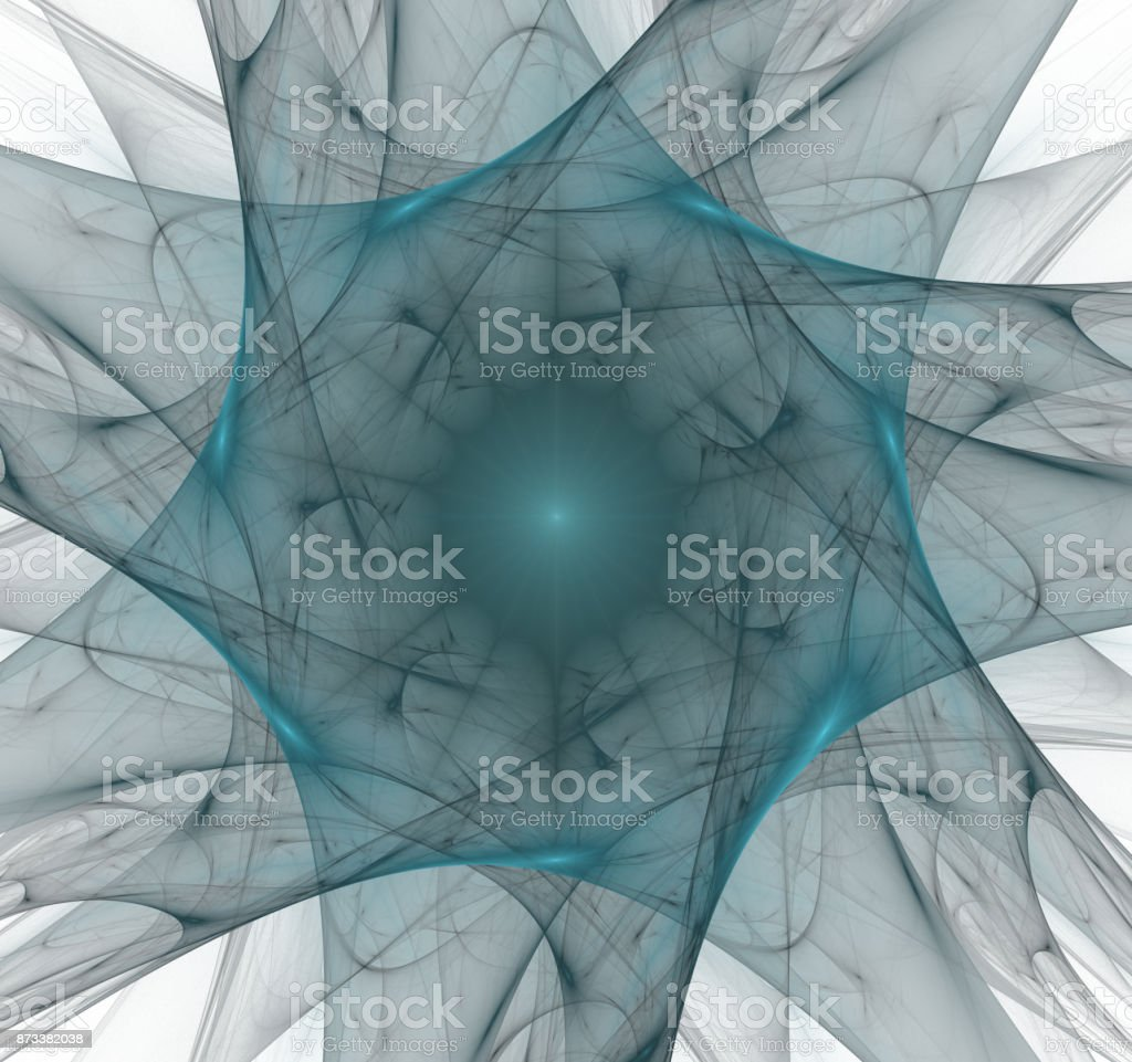 Nuclear radiation. Image molecules and atoms stock photo