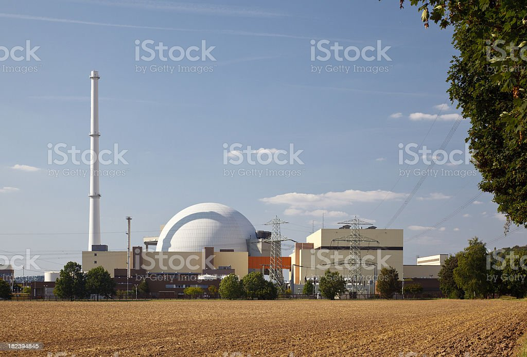 Nuclear Reactor Building royalty-free stock photo
