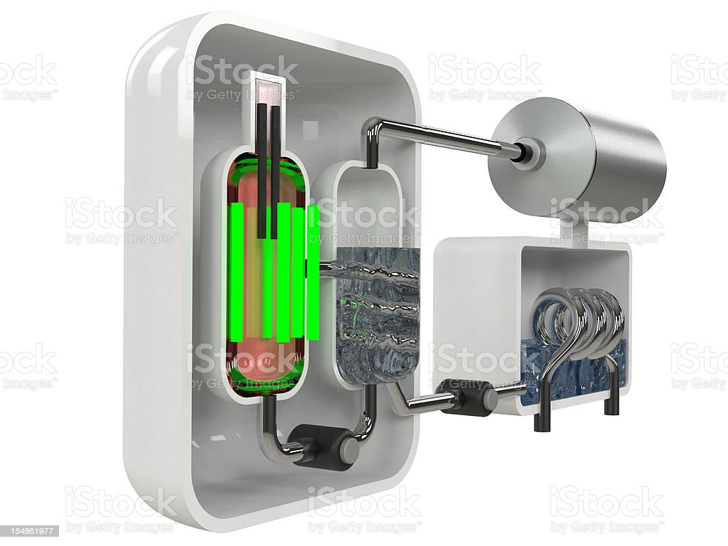 Nuclear Reactor Diagram royalty-free stock photo