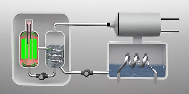 reattore nucleare diagramma - reattore nucleare foto e immagini stock