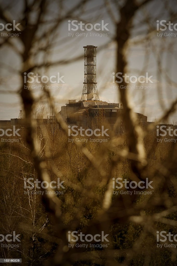 Nuclear reactor in Chernobyl stock photo