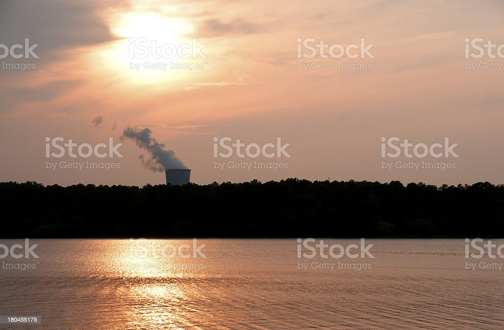 Nuclear Sunset royalty-free stock photo