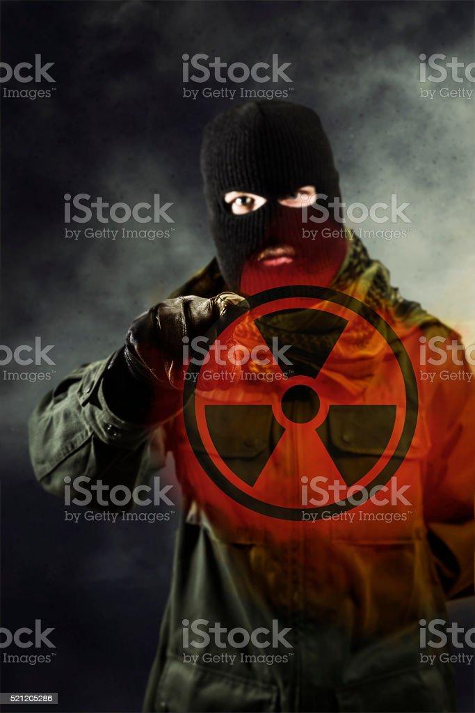 Nuclear terrorism stock photo
