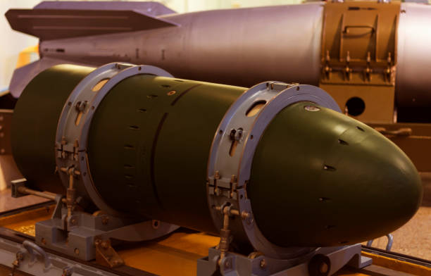 Nuclear warhead. use nuclear weapons. threat. stock photo