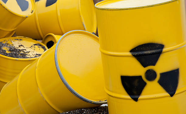 nuclear waste barrel  nuclear power station stock pictures, royalty-free photos & images