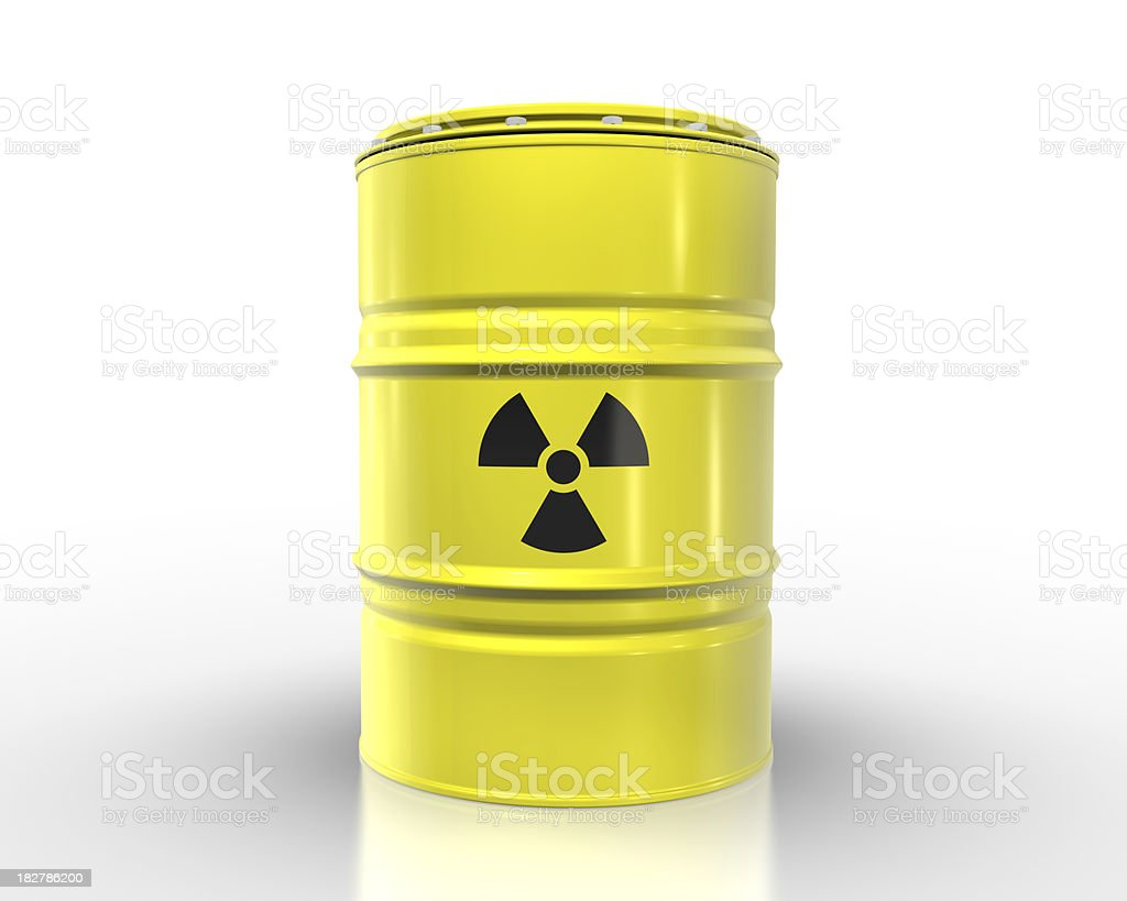 Nuclear Waste Barrel royalty-free stock photo