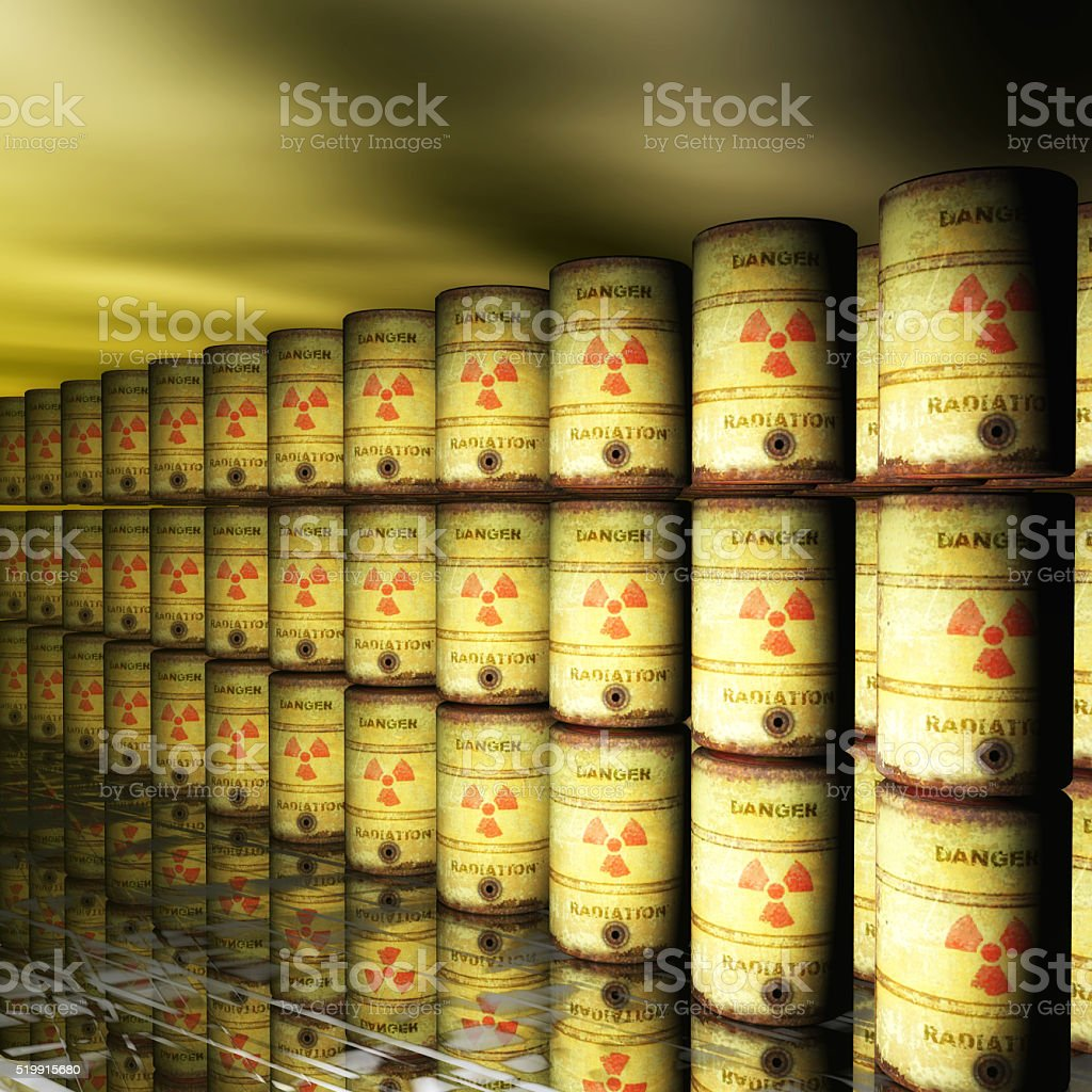 Nuclear Waste stock photo