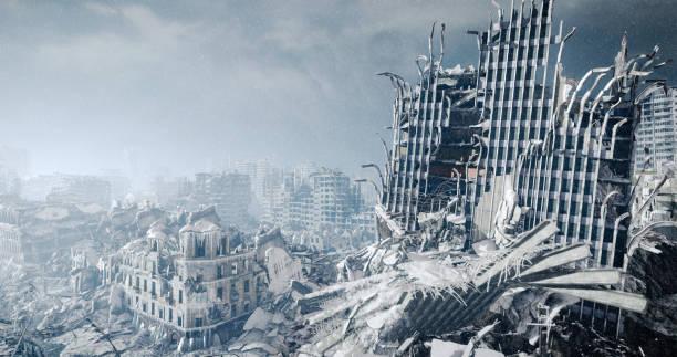 核の冬の風景 - 遺跡 ストックフォトと画像