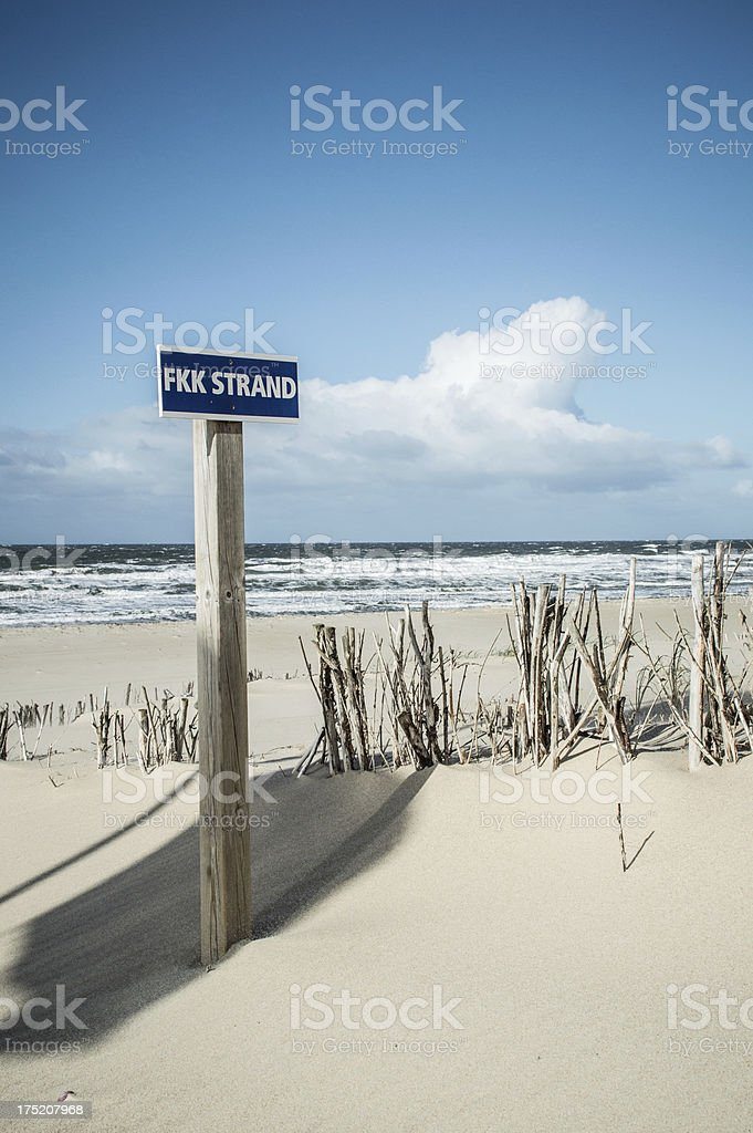 Nude Beach Sign Stock Photo - Download Image Now - iStock