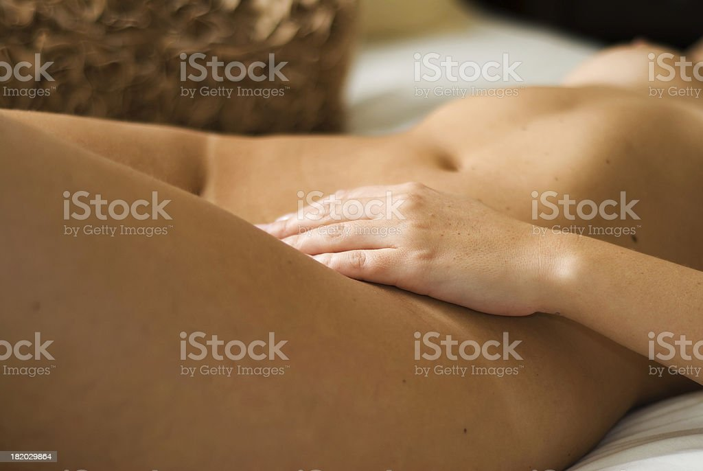 Nude caress royalty-free stock photo