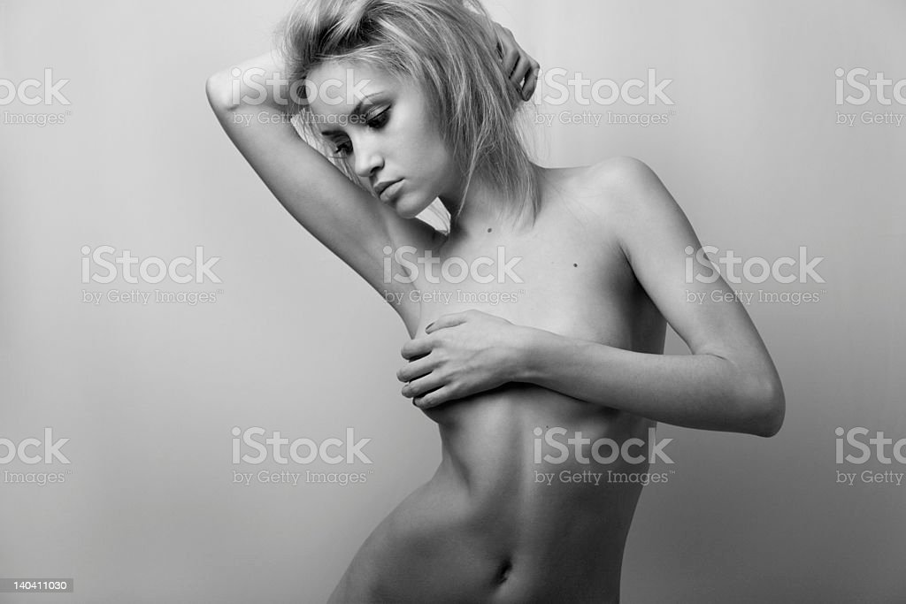 Nude elegant girl. royalty-free stock photo