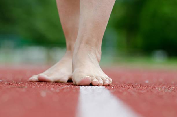 Nude feet stock photo