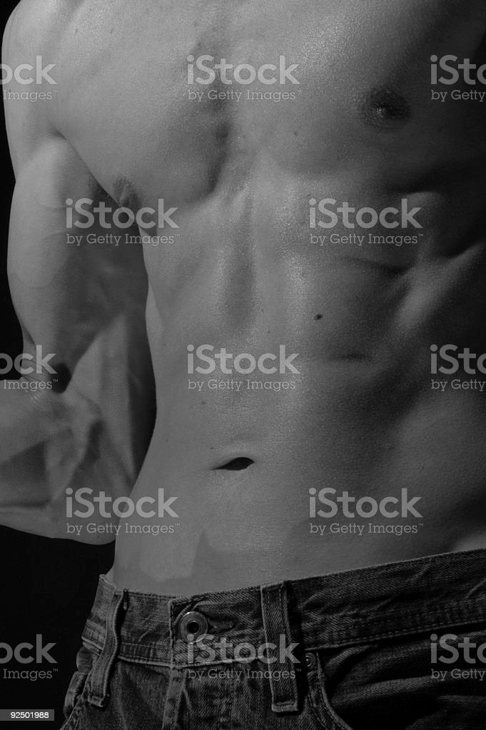 nude flex royalty-free stock photo