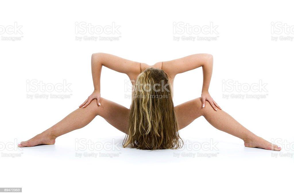 Nackte Mädchen auf weißem Hintergrund Lizenzfreies stock-foto