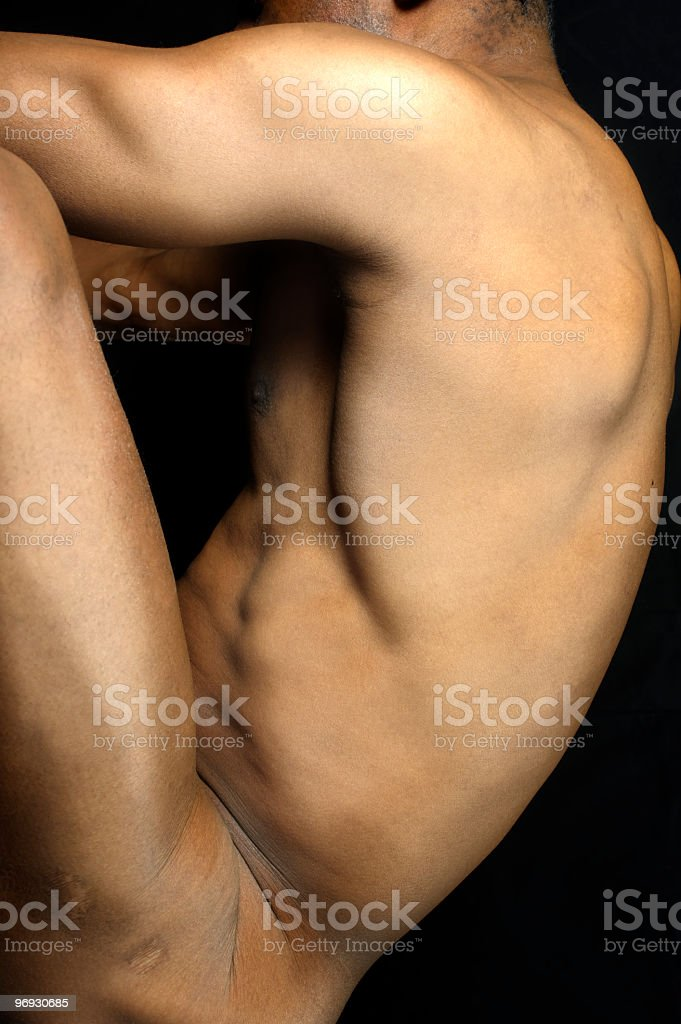 nude male body royalty-free stock photo