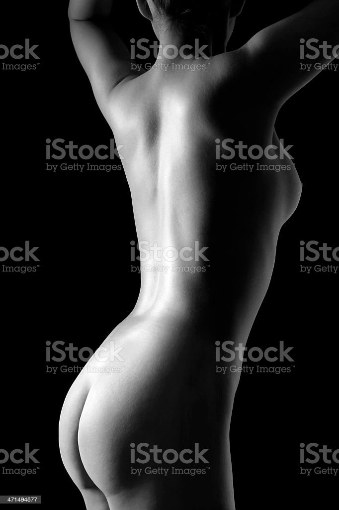 Group nude girls behind