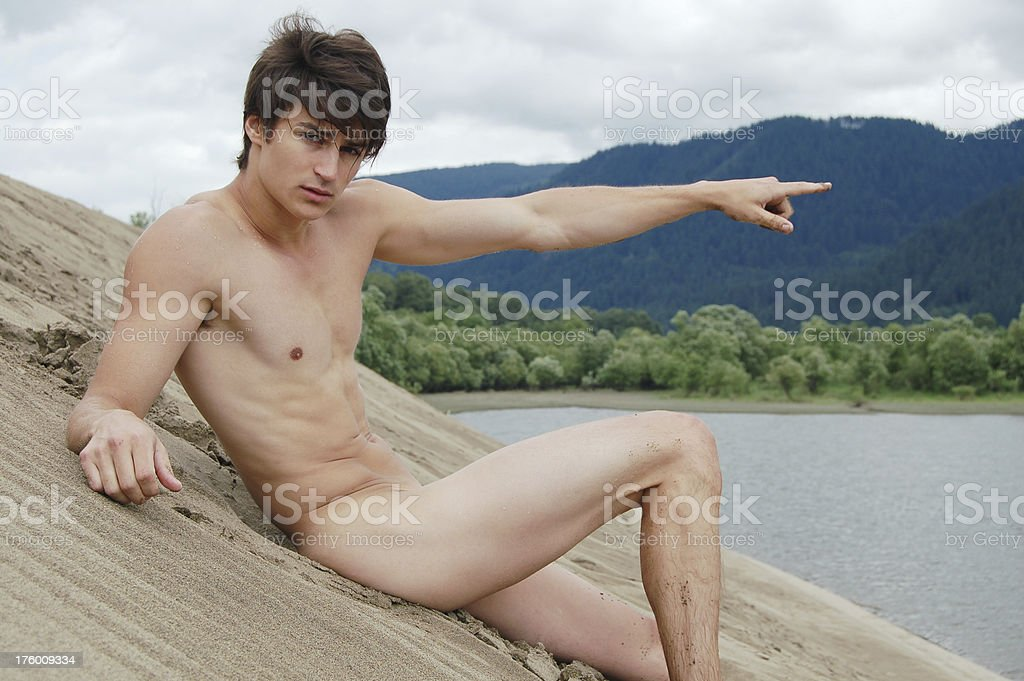 Nude Pointing royalty-free stock photo