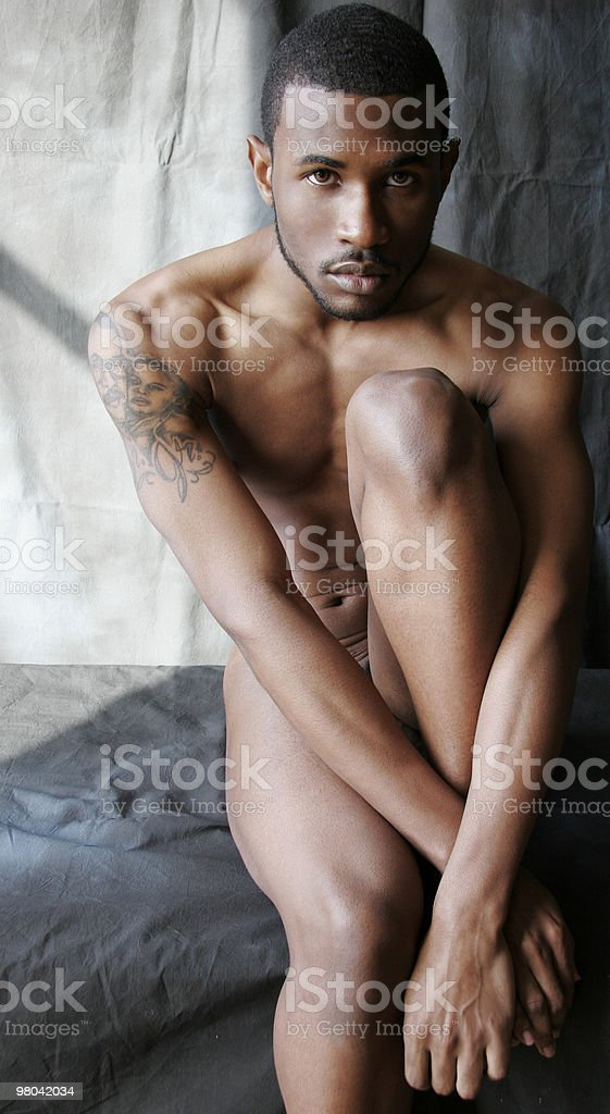 Nude Portrait of Athletic Man royalty-free stock photo