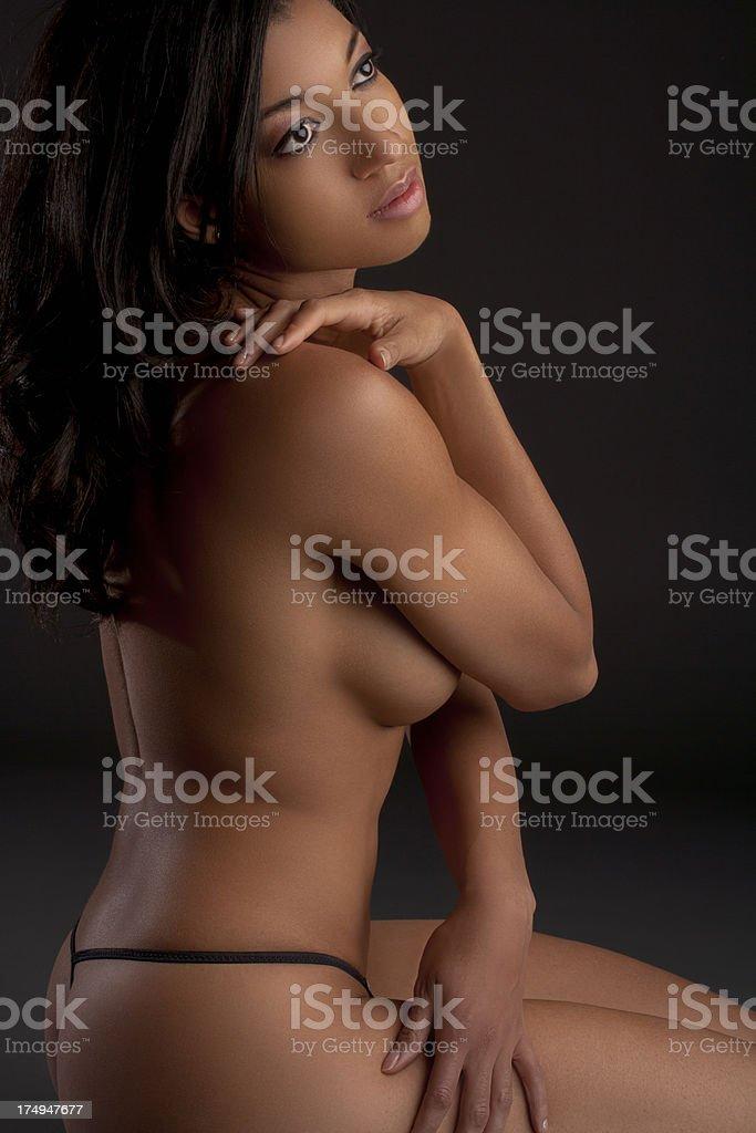 Nude portrait royalty-free stock photo