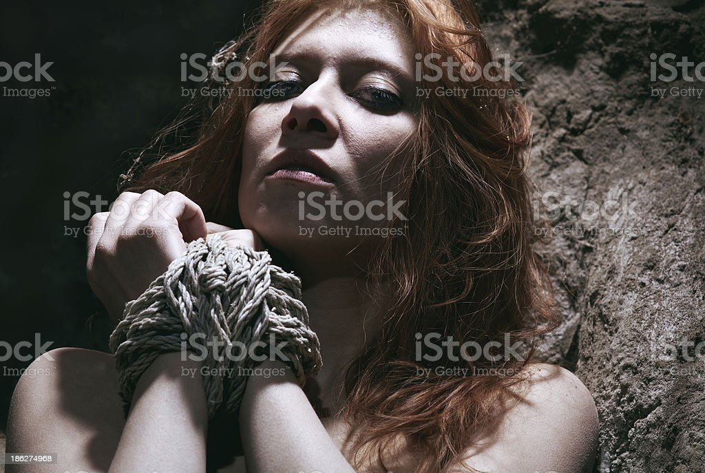 nude redhaired woman royalty-free stock photo