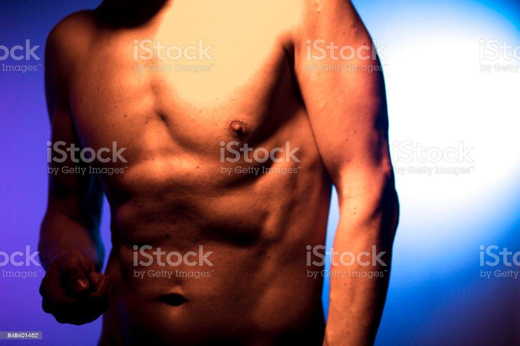 Hombre Desnudo Deportivo Delgado Atractivo Muscular Fit Modelo ...